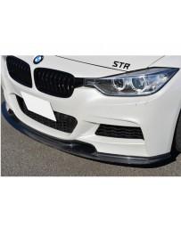 Varis Carbon Fiber Front Spoiler BMW 328d F30 M Sport 12-15