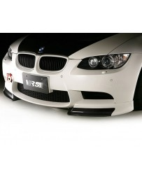 Varis Plain Weave Carbon Fiber Front Spoiler with Extension Lip Set BMW E92 M3 08-13
