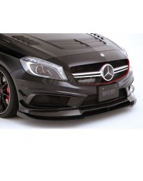 Varis FRP Front Spoiler and Carbon Fiber Extension Lip Set Mercedes Benz A45 AMG Wagon 13-18