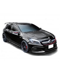 Varis Carbon Fiber Cooling Bonnet Hood System 2 with Side Fin Duct Mercedes Benz A45 AMG Wagon 13-18