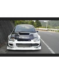Varis Carbon Front Bumper Attachment Cover Set Subaru WRX GDB C-D-E 02-16