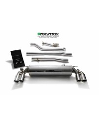 ARMYTRIX Stainless Steel Valvetronic Catback Exhaust System Quad Chrome Silver Tips BMW 540i G30 G31 2017-2020