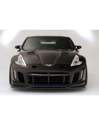 Varis Arising 2 Front Bumper for Day Light Installation Under Lip Carbon Nissan 370Z Z34 09-18