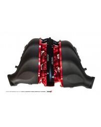 AMS Performance 2009+ Nissan GT-R Alpha Cast Plenum/Billet Intake Manifold with Std Fuel Rail - Clear