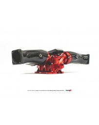 AMS Performance 2009+ Nissan GT-R R35 Alpha Alum/Carbon Fiber Intake Manifold with Aux Fuel Rail 18 Inj