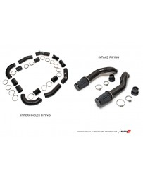 AMS Performance GT-R R35 Induction Kit with Stock Turbos/TB / Alpha I/C/Carbon Manifold/TiAL Flanges