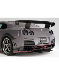 Varis Rear Carbon Bumper CBA Louver Nissan GTR R35 09-16