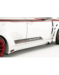 Varis Carbon Wide Body Side Step Side Air Panel and Big Underboard Mitsubishi EVO X CZ4A 08-15