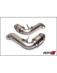 AMS Performance 12-16 BMW M5 (F10) / 12-16 BMW M6 (F06/F12/13) Alpha 3in Downpipes with Cat Converters