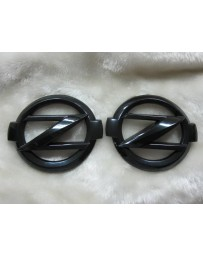 350z EVO-R Big Z emblems Front/Rear Black