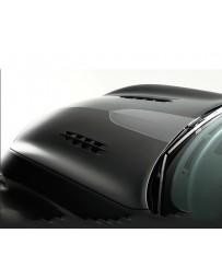 Varis Carbon V-Shaped Bonnet Hood with Dual Fins Infiniti M37 M56 Y51 Fuga 11-13