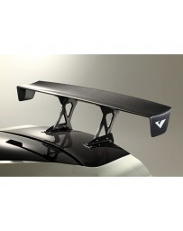 Varis All Carbon GT Wing Euro Edition Center Mount for Stock Trunk with Reinforcement Plate Nissan GTR R35 09-20