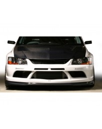 Varis Carbon Front Bumper Version 2 Underlip Carbon Mitsubishi EVO CT9A '09 Ver 06-07