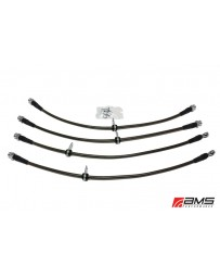 AMS Performance 08-15 Mitsubishi EVO X Stainless Steel Brake Lines (4 Lines)