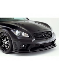 Varis Front FRP Bumper for Vehicles with No Safety Shield Infiniti M37 M56 Y51 Fuga 11-13