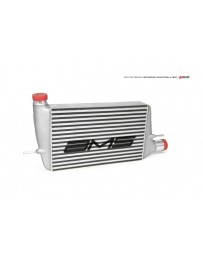 AMS Performance 08-15 Mitsubishi EVO X Front Mount Intercooler with Modular Cast End Tanks & Logo