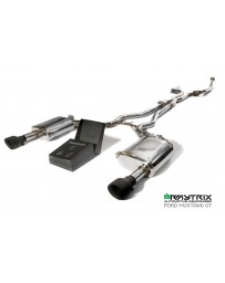 Armytrix Stainless Steel Valvetronic Catback Exhaust System Ford MUSTANG GT 5.0 (MK6) (2015-2017) - Dual Matt Black Tips