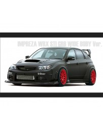 Varis Front FRP Wide Fender Kit Subaru STi GRB 08-16