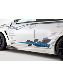 Varis FRP Side Skirt Version 2 with Air Shroud Mitsubishi EVO X CZ4A 08-15