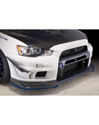 Varis Carbon Front Bumper Under Lip Version 2 Replacement Mitsubishi EVO X CZ4A 08-15