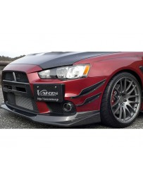 Varis Front Bumper Upper Only Version 1 Mitsubishi EVO X CZ4A 08-15