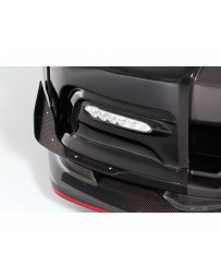 Varis Carbon Single Canard Option for Varis Carbon Bumper Nissan GTR R35 09-16