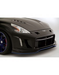 Varis Arising 2 Front Carbon Bumper Lip Replacement Nissan 370Z 09-18