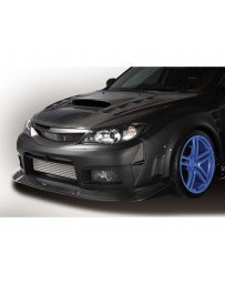 Varis Front Carbon Wide Fender and Underlip Subaru WRX GRB 08-16