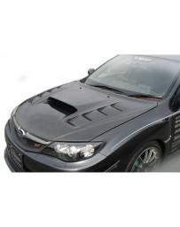 Varis FRP Aero Cooling Bonnet Subaru STi GRB 08-16