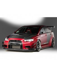 Varis Carbon Wide Body Single Canard Mitsubishi EVO X CZ4A 08-15