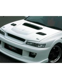 ChargeSpeed Carbon Side Hood Air Duct (Japanese CFRP) Pair Subaru Impreza WRX GC-8 95-01