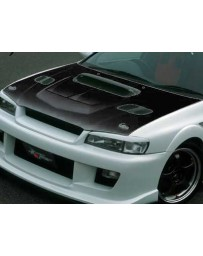 ChargeSpeed 1995-2001 Subaru Impreza WRX GC-8 Carbon Vented Hood Japanese CFRP (Not Street Legal) Hood Pin Required