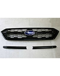 ChargeSpeed Carbon Front Grill Finisher for OEM Front Grill 2 Pieces Subaru WRX STi 18-19