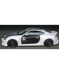 ChargeSpeed Type 2 Complete Lip Kit with Carbon Over Fenders 9 Pieces Toyota FR-S 86 Late Stage Kouki Model 17-18