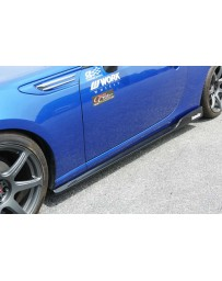 ChargeSpeed Type 2 FRP Side Skirts Subaru BR-Z ZC-6 Toyota 86 ZN-6 Model Bottom Lines Pair 13-18