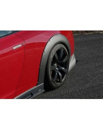 ChargeSpeed Gloss Carbon 20mm Rear Over Fender Pair Nissan GT-R R35 09-16