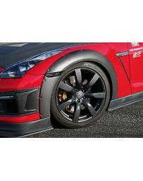 ChargeSpeed Gloss Carbon 15mm Front Over Fenders Nissan GT-R R35 09-16
