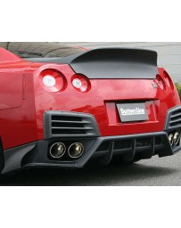 ChargeSpeed Bottom Line Rear Bumper Diffuser Gloss Carbon CFRP Nissan GT-R R35 09-16