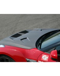 ChargeSpeed Vented Hybrid Gloss Honeycomb Carbon Hood CFRP Nissan GT-R R35 09-20