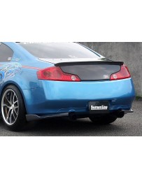 ChargeSpeed Bottom Line Carbon Rear Lip Caps Infiniti G35 Coupe 03-07