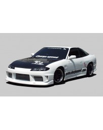 ChargeSpeed S15 Conversion Full Body Kit & Carbon Vented Hood Nissan 240SX S13 Coupe 89-94