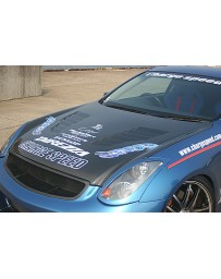 ChargeSpeed FRP Vented Hood Infiniti G35 Coupe 03-07