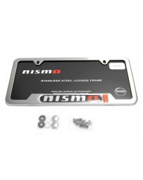 Nissan GT-R R35 Nismo License Plate Frame, Brushed