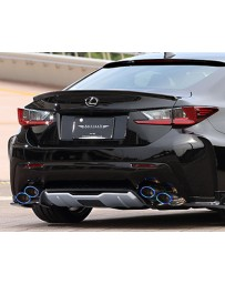 Artisan Spirits Black Label Stainless Steel Carbon Fiber Tipped Dual Exhaust System Lexus RC-F 15-17