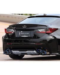 Artisan Spirits Black Label Titanium Carbon Fiber Tipped Dual Exhaust System Lexus RC-F 15-17