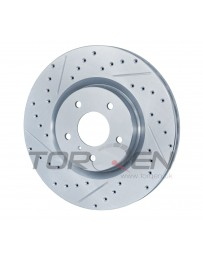 350z Stoptech Select Sport Front Rotor, Zinc Plated, Drilled/Slotted RH for Brembo Calipers