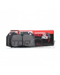 350z Hawk Performance Street 5.0 Brake Pads, Rear with Standard Non-Brembo Calipers