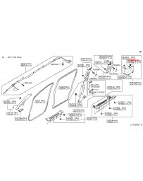 R35 GT-R Nissan OEM Rear Strut Tower Bar Cover Finisher Clip