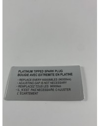 300ZX Z32 Blaster Z 300ZX Platinum Tipped Spark Plug Decal