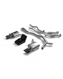 ARMYTRIX Stainless Steel Valvetronic Ceramic Coated High-Flow Catback Exhaust System w/Dual Matte Black Tips Audi RS5 B9 2D